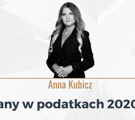 Zmiany w podatkach 2020/2021