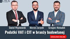 Podatki VAT i CIT w branży budowlanej