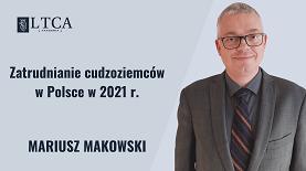 Zatrudnianie cudzoziemców w Polsce w 2021 r.