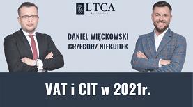 Podatki VAT i CIT 2021