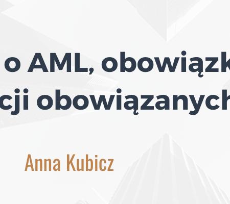 Ustawa o AML, obowiązki instytucji obowiązanych